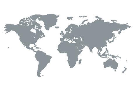 World Map Brown