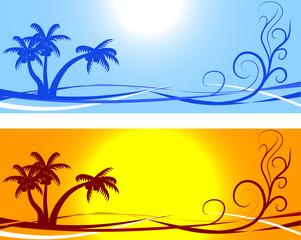 Summer backgrounds.