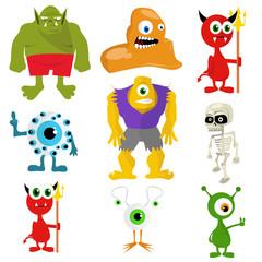 Illustration of monsters