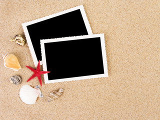 Pictures in a beach concept. Vacation memories..