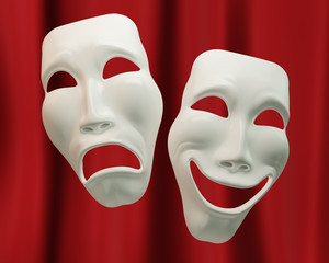 Drama and comedy symbols
