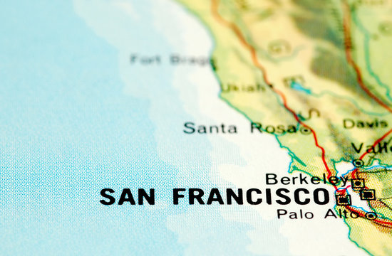 san francisco and californian coastline map detail