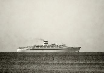 Retro ocean liner