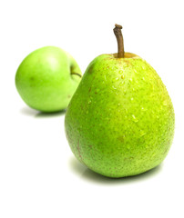 juicy pear and green apple