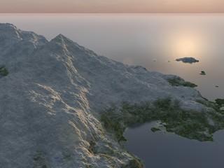 Icy island