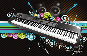 Music instrument Vector composition