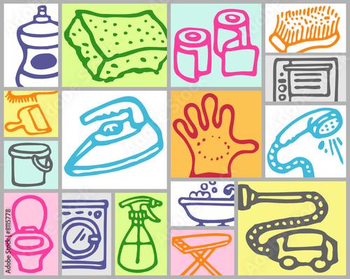 objets m nage fichier vectoriel libre de droits sur la banque d 39 images image 8115778. Black Bedroom Furniture Sets. Home Design Ideas