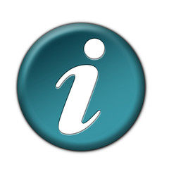 3D Turquoise Information Button (clicked)