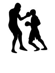 Boxers II with reflection
