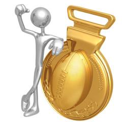 Gold Medal Football Winner