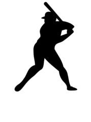 Baseball Batter with reflection
