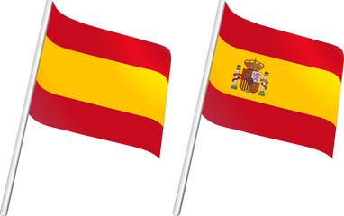 Drapeau Espagne et emblème