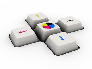 cmyk keyboard button