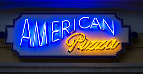 American pizza sign
