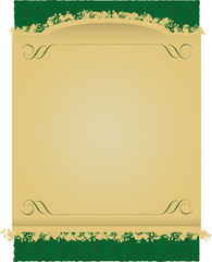 Vintage Green and Gold decorative banner vector illustration