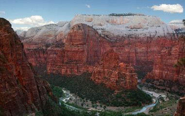 Zion Canyon and Colorado river
