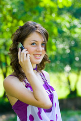 Girl speaking on phone