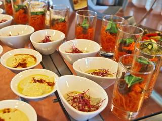 salat,antipasti, vorspeise büffet
