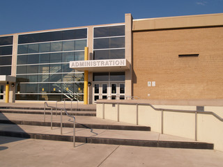 administration entrance for a school