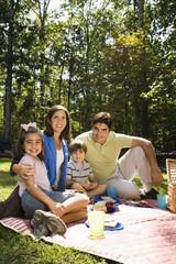 Happy family picnic.