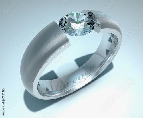 platinring mit diamant stockfotos und lizenzfreie bilder auf bild 8223543. Black Bedroom Furniture Sets. Home Design Ideas