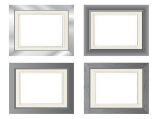 Silver and metal blank photo frames