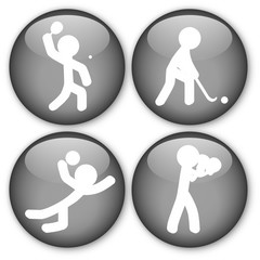 Sports Buttons (TennisTable/Hockey/Volleyball/Boxing)