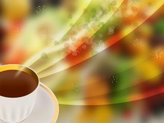 Abstract fruit tea
