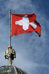 Schweizerfahne aus Stoff