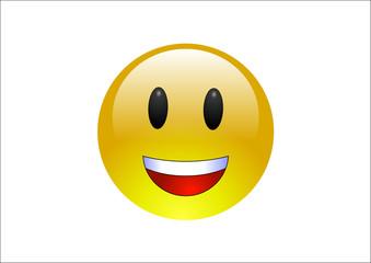 Aqua Emoticon - Laugh