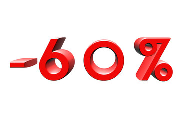 -60 %
