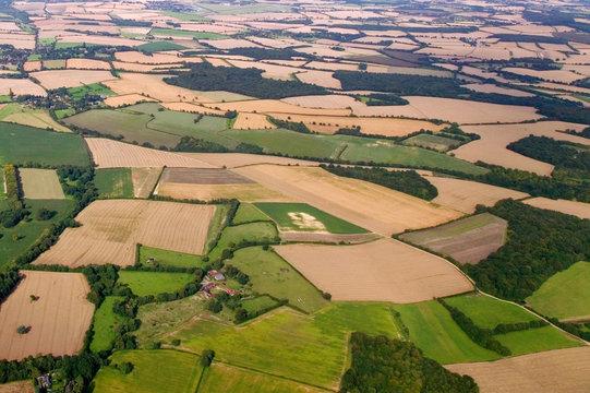 Rural ariel landscape