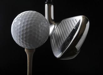 Golf club and ball - fototapety na wymiar
