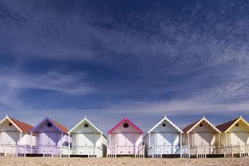 Beach Huts & Sky