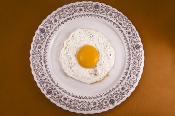 Fried egg to eat accompanied