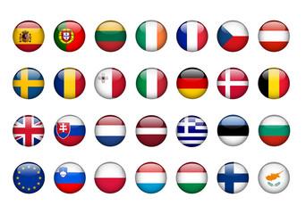 EU Flags Poster (landscape)