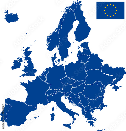 carte europe illustrator