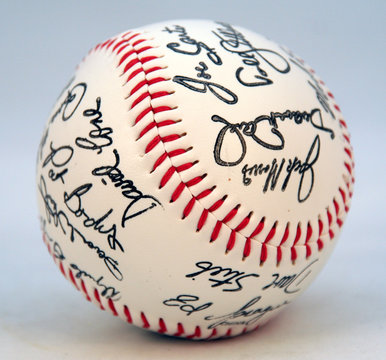 Toronto blue jays signed and autographed team