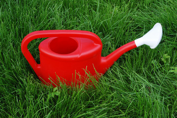 red wateringpot