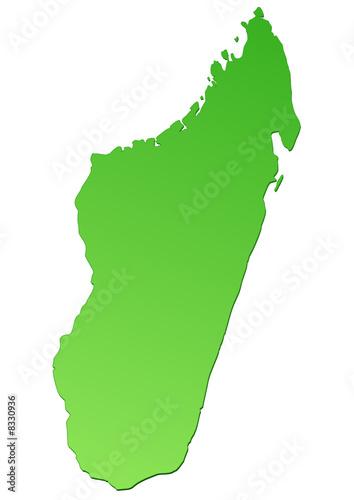 Carte Verte Madagascar.Carte De Madagascar Verte Detoure Stock Image And Royalty