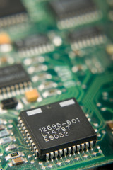 Microchip On Circuit Board