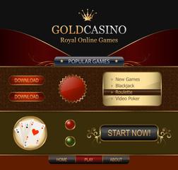 Online Casino Web template Elements