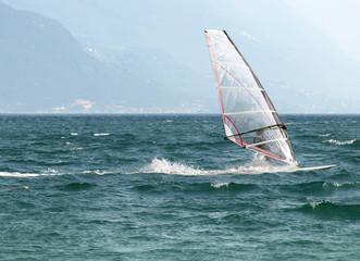 landscapes series - surf on Garda lake, Italy