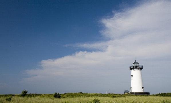 Edgar Harbor Light House Marthas Vineyard