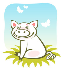 cartoon piggy