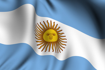 Rendered Argentine Flag