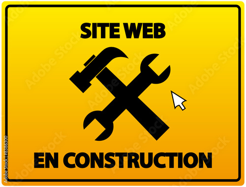Web Site Under Construction Background French Stock Image And