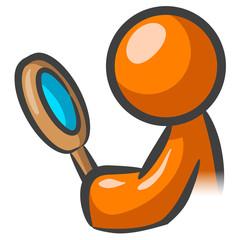 Orange Man Magnifying Glass