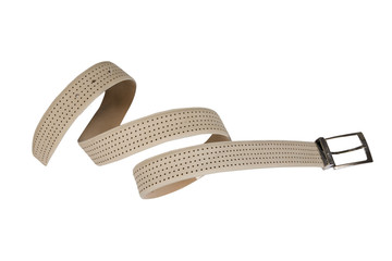 yellow belt with perforations