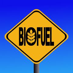 Warning Biofuel sign